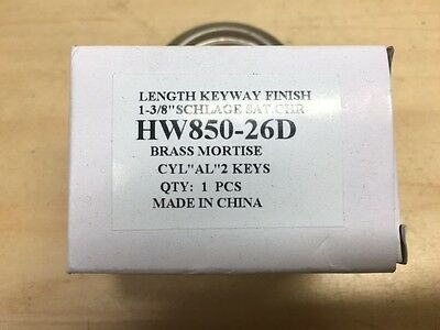 Alarm Lock Hw850-26d 1-38 Schlage C Mortise Cylinder.