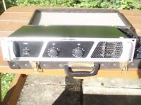 CARLSBRO AMPLIFIER - POWERLINE 300 PRO POWER AMP- WITH FLIGHT CASE
