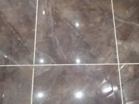 Porcelain Tiles 4.85 square metres in 5 boxes. Unused