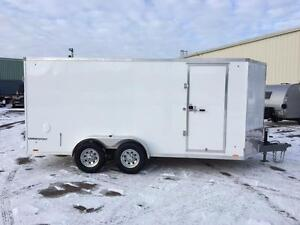 NEW 2017 PACE 7' x 16' CARGO SPORT ENCLOSED TRAILER