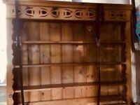 Large Wooden Pine Dresser unit cupboard storage sideboard