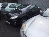 PEUGEOT 206 CC 2002 BREAKING FOR SPARES