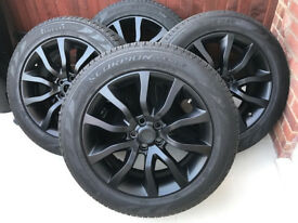 "Original Range Rover Alloy Wheels 20"" In Perfect Condition Matt Black Colour"