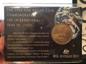 1992 $5 Dollar Year of Space Coin Carded - Fixed Price North Sydney North Sydney Area Preview