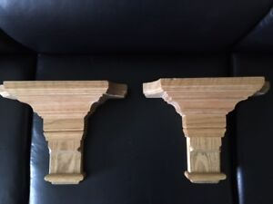 Hand Carved Oak Corbels