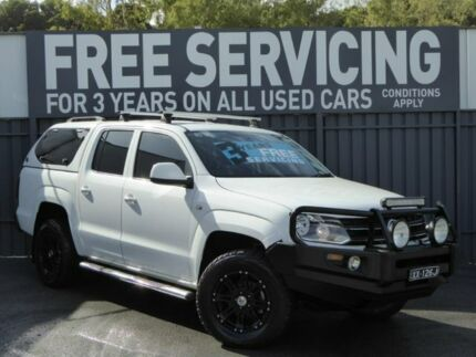 2013 Volkswagen Amarok 2H MY14 TDI400 4Mot Trendline White 6 Speed Manual Utility Reynella Morphett Vale Area Preview