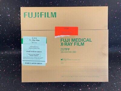 Fuji Medical X-ray Film - Super Hr-u - 14x36 - 25 Sheets - New Exp 092020