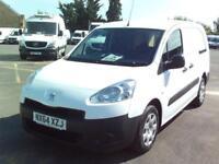 Peugeot Partner L2 716 1.6 92 CREW VAN EURO 5 DIESEL MANUAL WHITE (2014)