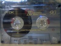 TDK D 90 CASSETTE TAPES IN PRISTINE CONDITION. *THIS WEEK ONLY. LIMITED UNBEATABLE OFFER!*