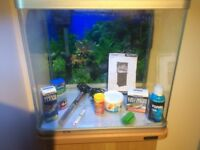 Aquarium Fish Tank 75 litre with stand and accessories for cold water or tropical fish AquaStyle 510