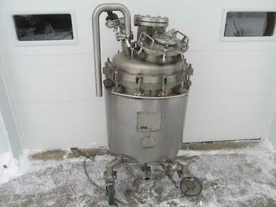 Overly Inc. 60 Gallon Stainless Steel Jacketed Fermenter Reactor 300f 50 Psi