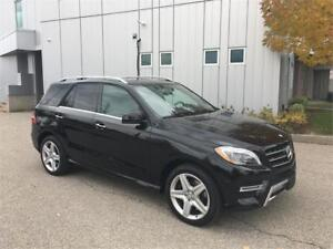 2015 MERCEDES BENZ ML400 4MATIC 28KM AMG PACKAGE NAVIGATION