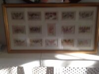 ww1 silk cards to love ones at home framed 15 cards stunning