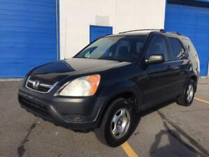 2003 HONDA CRV AWD/ROOF RACK/SUNROOF/ALLOYS/2.2 L/4CYLINDERS