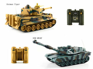 RC 1/28 battle infrared TWO tanks with sound and light BRAND NEW