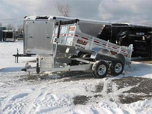 Remorque dompeur 6X12 avec gros essieux et équipé