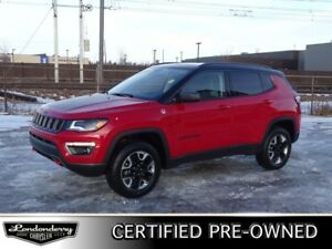 2018 Jeep Compass 4WD TRAILHAWK Navigation (GPS),  Leather,  Hea