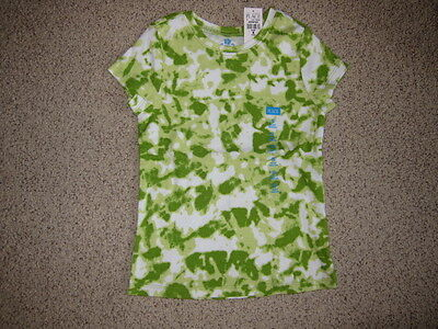 NWT THE CHILDRENS PLACE TYE DYE SPLOTCHY GREEN TEE SIZE S SMALL 5-6