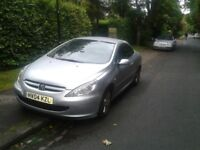 Lovely Silver PEUGEOT 307 CC CABRIOLET 2004 Low Mileage for year MOT