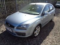 FORD FOCUS 1.8 ZETEC CLIMATE 5 DOOR 121,000 MILES 2007 BLUE M.O.T 14/02/18 FULL SERVICE HISTORY