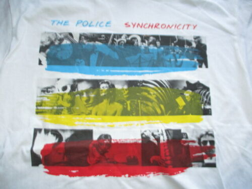 Retro POLICE Synchronicity Concert LG Shirt STING ANDY SUMMERS STEWART COPELAND