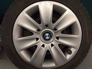 4 BMW Winter Tires DUNLOP and rims 205/55R16