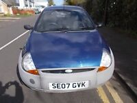 FORD KA 1.3 70 STUDIO HATCHBACK 07 REG,, CHEAP TO RUN AND INSURE,, MOT MARCH 2018
