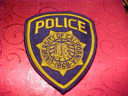 UNIVERSITY OF CALIFORNIA POLICE PATCH SHOULDER SIZE UNUSED TYPE 3**********