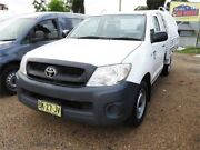 2011 Toyota Hilux TGN16R MY10 Workmate White Manual Cab Chassis Minchinbury Blacktown Area Preview