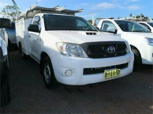 2010 Toyota Hilux KUN16R 09 Upgrade SR White 5 Speed Manual Cab Chassis Minchinbury Blacktown Area Preview