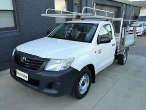 2014 Toyota Hilux TGN16R MY14 Workmate White 5 Speed Manual Cab Chassis Peakhurst Hurstville Area Preview