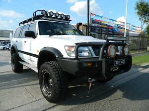 2001 Nissan Patrol GU II ST White 5 Speed Manual Wagon Williamstown North Hobsons Bay Area Preview
