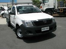 2011 Toyota Hilux TGN16R MY10 Workmate White 4 Speed Automatic Cab Chassis Varsity Lakes Gold Coast South Preview