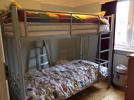 Metal bunk beds (without mattresses)