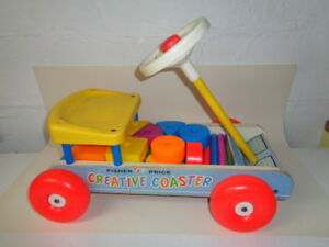 Fisher Price Creative Coaster with plastic building blocks