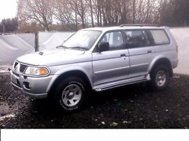 Shogun Sport silver with tow bar, excellent engine, new tyres,clean body work