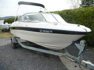 bayliner 18 pied open deck hors bord 90 force