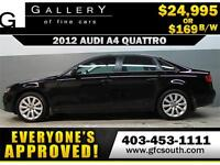 2012 AUDI A4 2.0T QUATTRO *EVERYONE APPROVED* $0 DOWN $169/BW