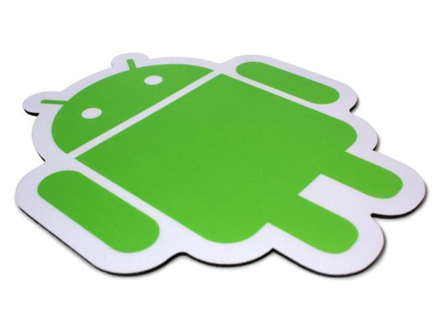 GREEN ON WHITE MOUSE PAD ANDROID FOUNDRY PLASTIC SURFACE MOUSEPAD