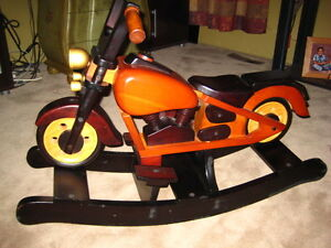 Wooden Motorcycle Rocker