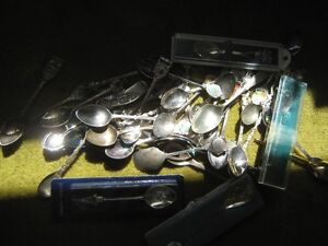 About 40 Silver commemorative Spoon collection