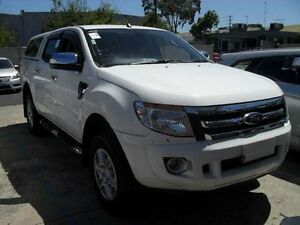 2012 Ford Ranger PX XLT Double Cab 4x2 Cool White Sports Automatic Utility Moorabbin Kingston Area Preview