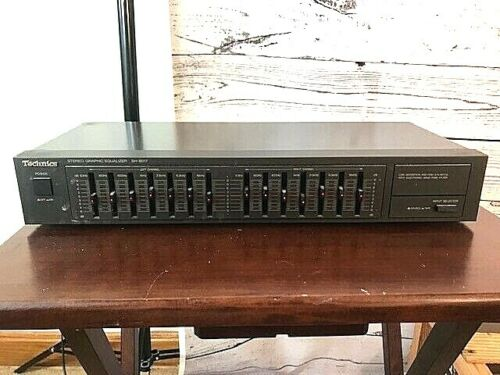 Technics SH-8017 7 Band Stereo Graphic Equalizer Pro Restored W/ Manual Cables