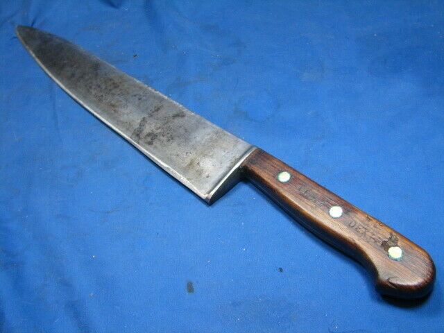 """Vintage Dexter 48912 11.75"""" Hand Forged Carbon Steel Chef"""