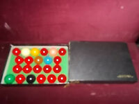 UNUSED IN BOX SUPER CRYSTALATE SNOOKER BALLS.MADE IN ENGLAND