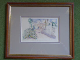 Beautiful signed watercolour of Michelmersh Court, nr Romsey