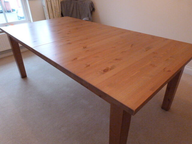 ikea stornas dining table pine extendable in tiverton devon gumtree. Black Bedroom Furniture Sets. Home Design Ideas