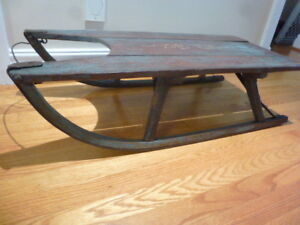ANTIQUE PRIMITIVE CANADIANA RUSTIC SLED (SLEIGH) Reduced