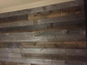pin blanc sec et bois style bois de grange