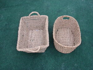 2 pcs set rope basket